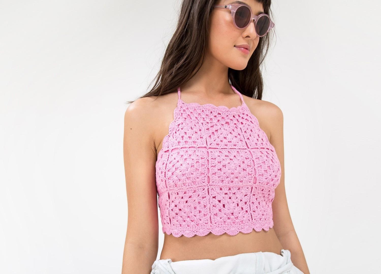 Вязание крючком для женщин: модный топ