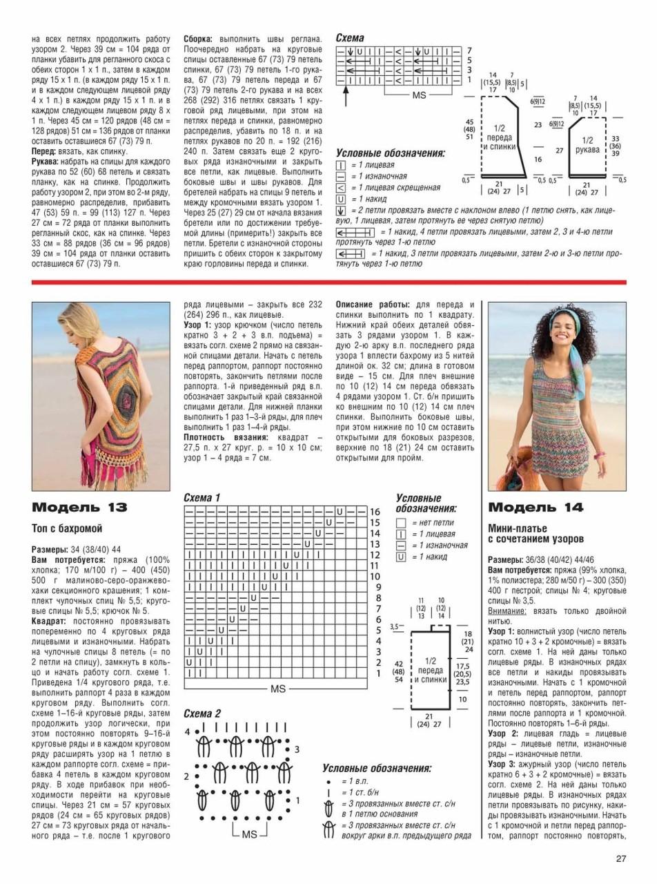 Вязание крючком для женщин лето 2017: топ с бахромой и платье