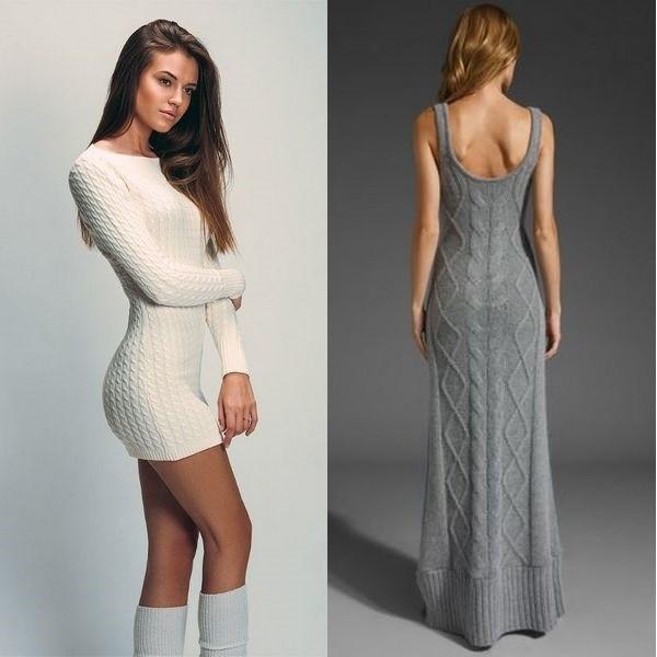 Вязание спицами для женщин модели на лето: платья спицами