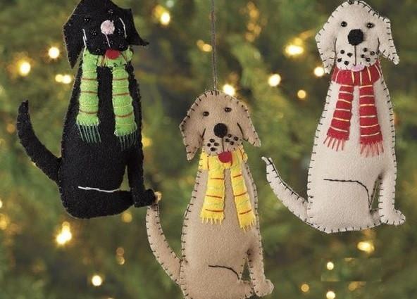 Символ 2018 года: собака своими руками на елку