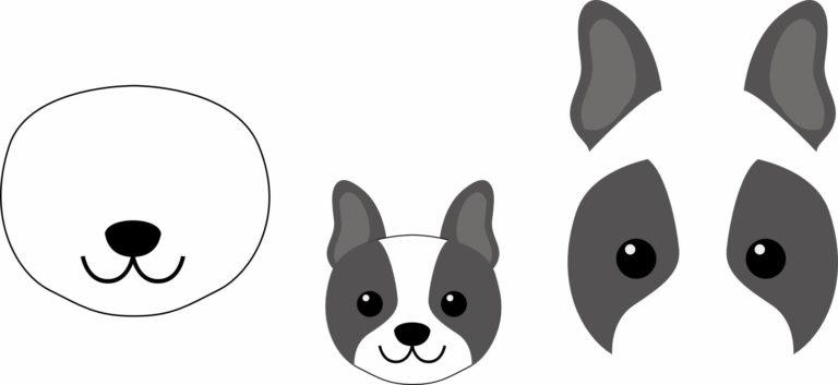 Символ 2018 года: собака своими руками (шаблон)