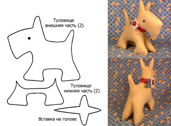 Символ 2018 года: собака своими руками (игрушка из фетра)