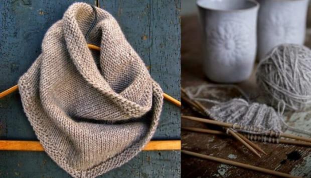 34Как связать ажурный шарф спицами для начинающих