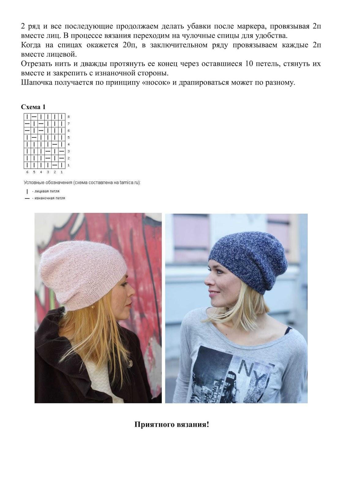 Вязание модных шапок для девушек со схемами с фото