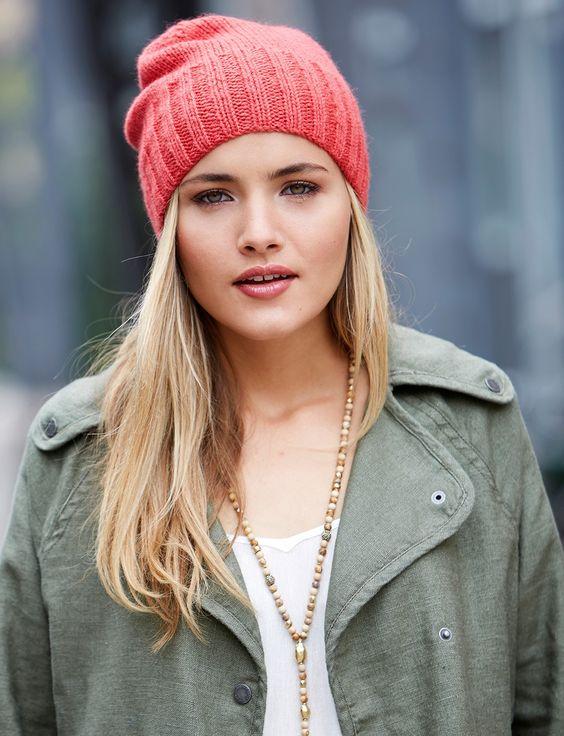 Вязаные шапки: новые модели зима 2018 (бини)