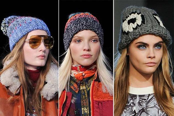 Вязаные шапки: новые модели зима 2018 (расцветки)
