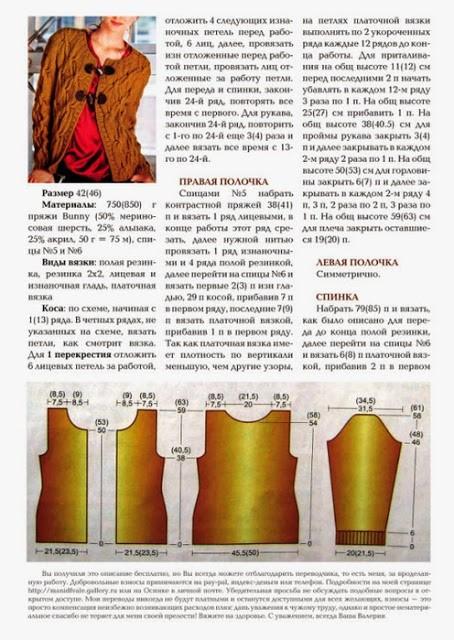 Кардиган спицами: схема вязания