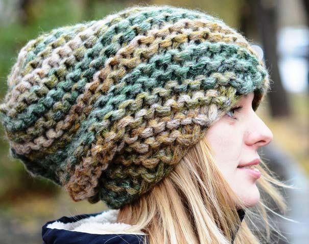 Вязаные шапки 2017-2018: меланж