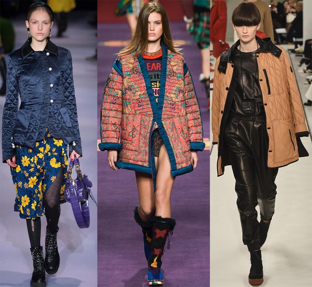 Женские куртки осень-зима 2017-2018: стеганные модели