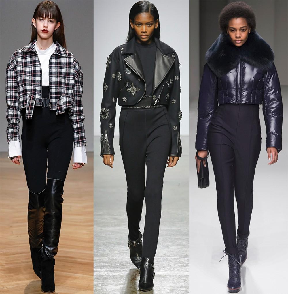 Женские куртки осень-зима 2017-2018: укороченная куртка