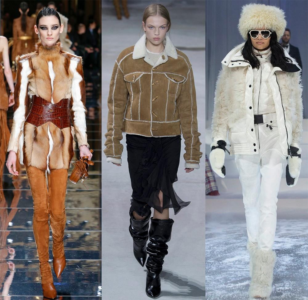 Женские куртки осень-зима 2017-2018: модели с мехом
