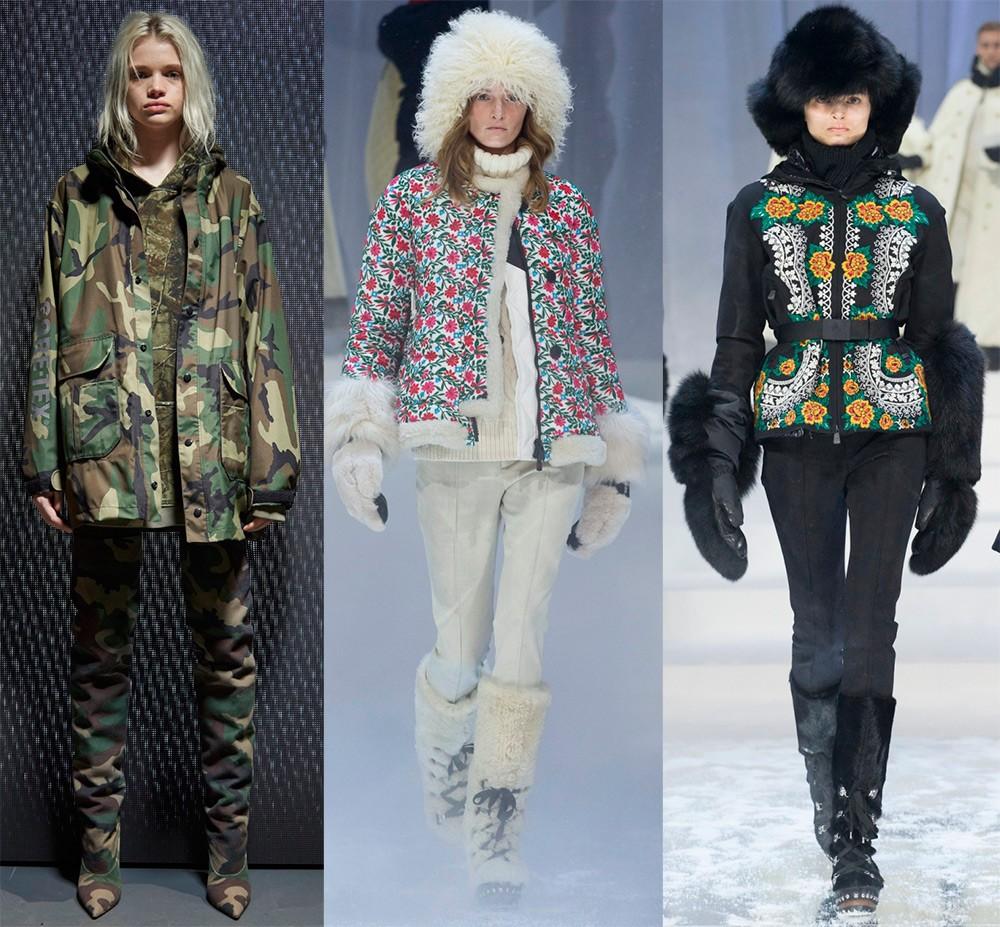 Женские куртки осень-зима 2017-2018: растительные принты
