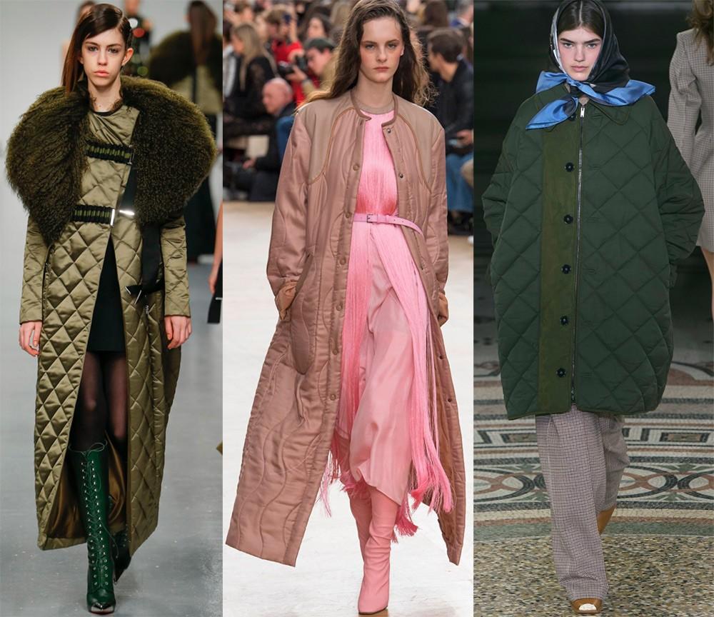 Пальто осень 2017 года: стеганные пальто
