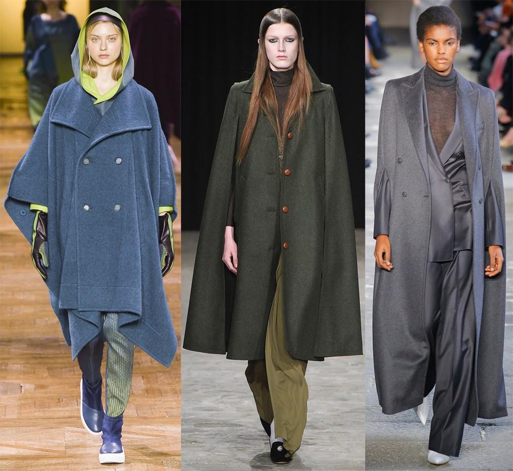 Пальто осень 2017 года: кейпи