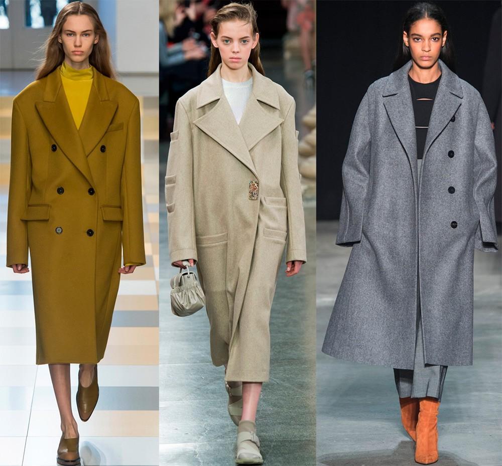 Пальто осень 2017 года: стиль оверсайз