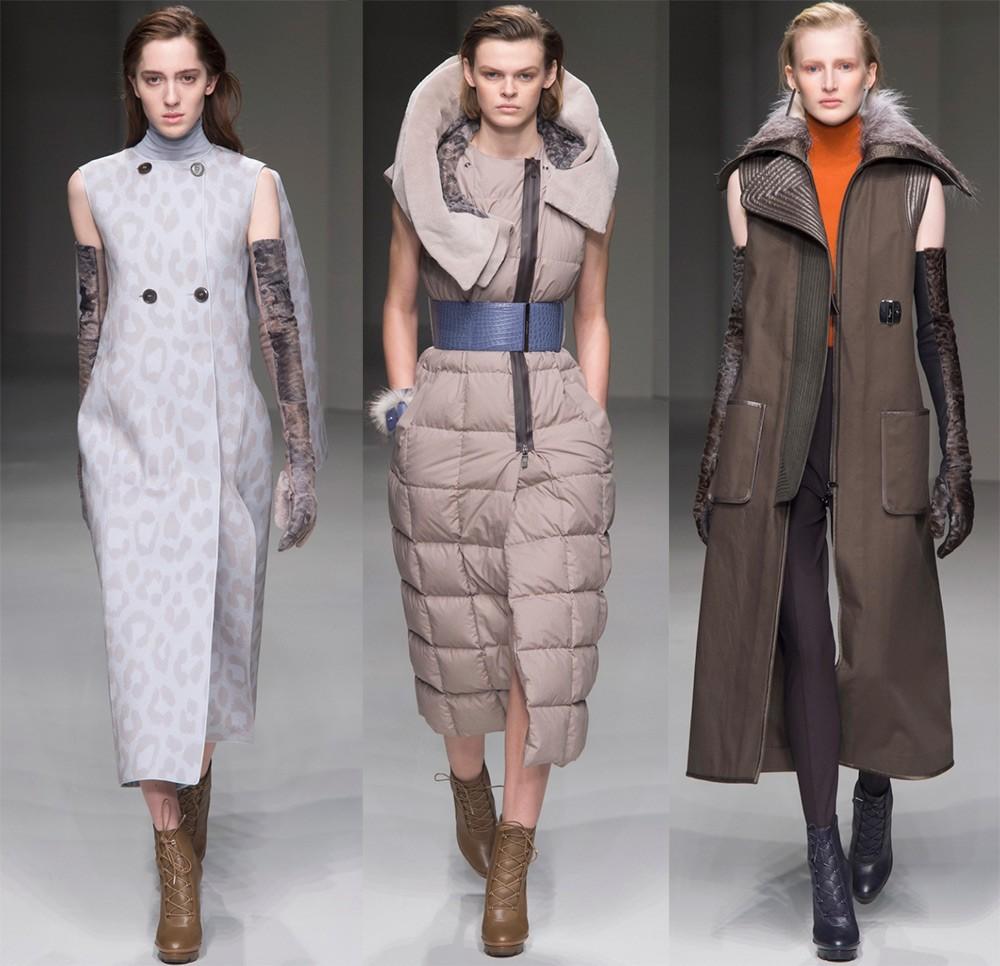 Пальто осень 2017 года: модель без рукавов