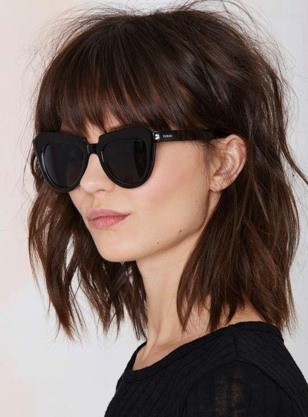 Модные стрижки 2017 женские на средние волосы: рваное каре с челкой