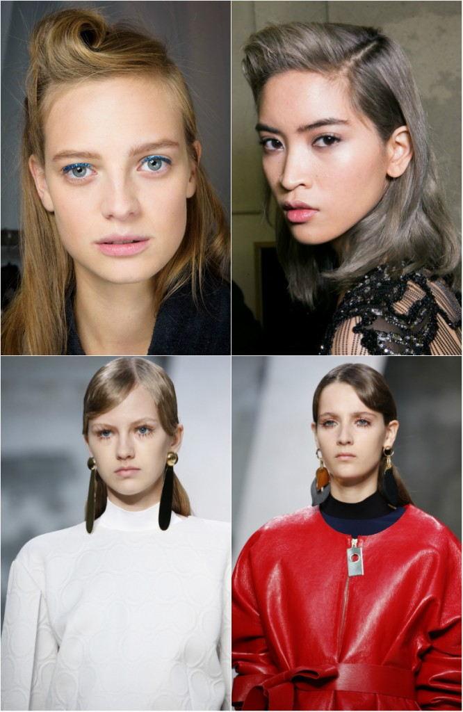 Прически 2018 женские на средние волосы: ретро челка