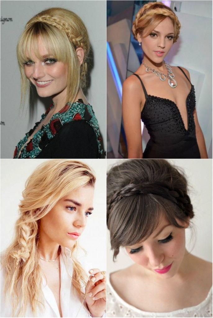 Прически 2018 женские на средние волосы: укладка с косами