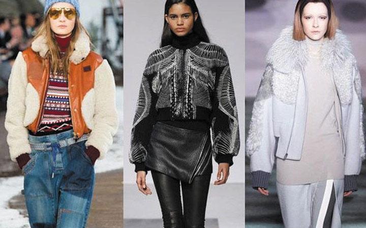 Женские куртки осень-зима 2017-2018: комбинированные модели