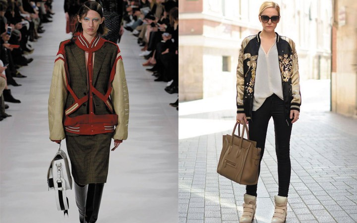 Женские куртки осень-зима 2017-2018: бомберы