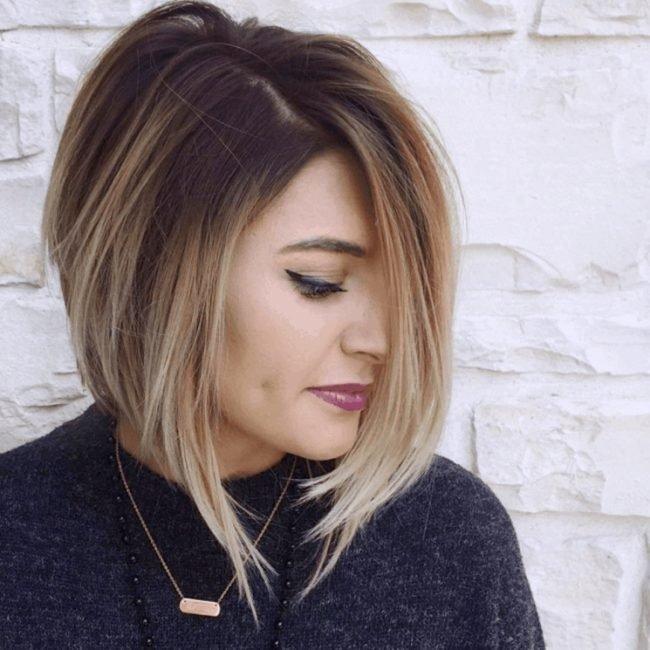 Женские стрижки 2017-2018 на средние волосы: асимметричный боб