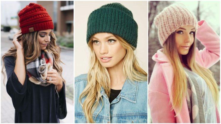 Вязанные шапки женские зима своими руками 224