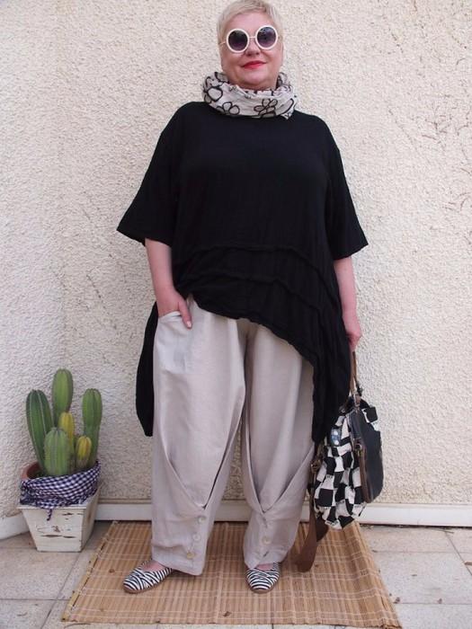 Стиль бохо в одежде фото для тех кому за 50: образ №2