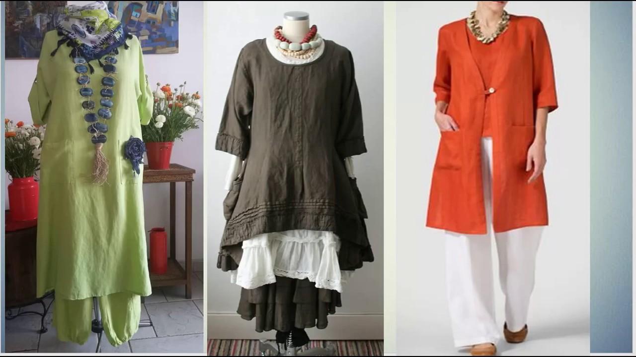 Стиль бохо для женщин за 50: наряды из льна