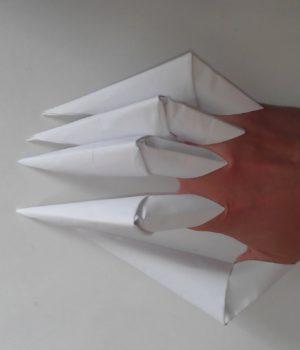 Как сделать когти из бумаги на пальцы
