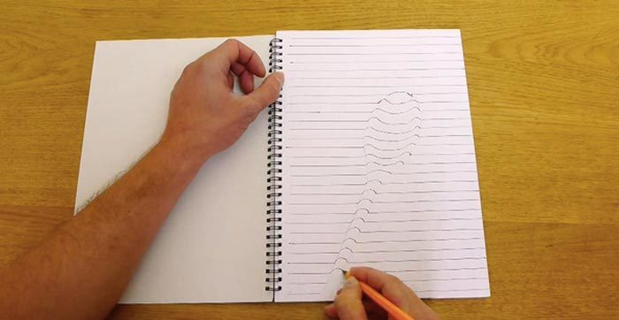 kak-narisovat-3d-risunok-na-bumage-041-700x362 Как нарисовать 3д (3d) рисунок на бумаге карандашом