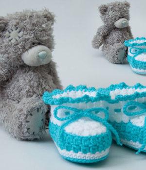 Пинетки крючком для новорожденных