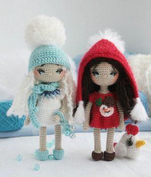 Вязанные куколки феи
