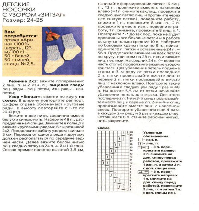 shemy_dlya_vyazaniya_spicami_detskie_nosochki1-661x700 Как вязать носки на 5 спицах начинающим