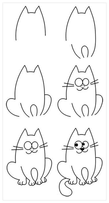 картинки поэтапно рисовать карандашом