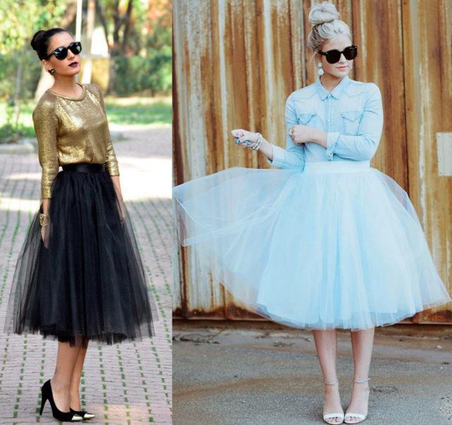 Красивые юбки из фатина