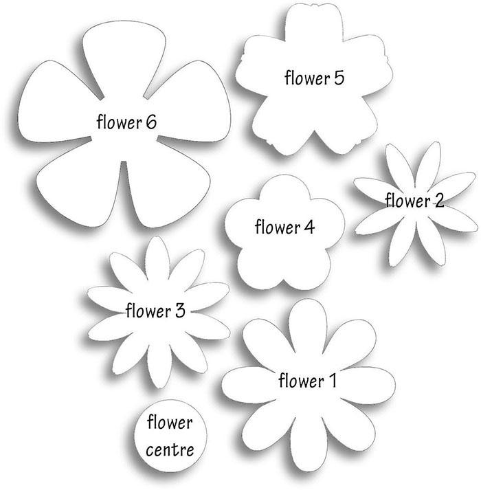Объемные цветы своими руками схемы шаблоны 695