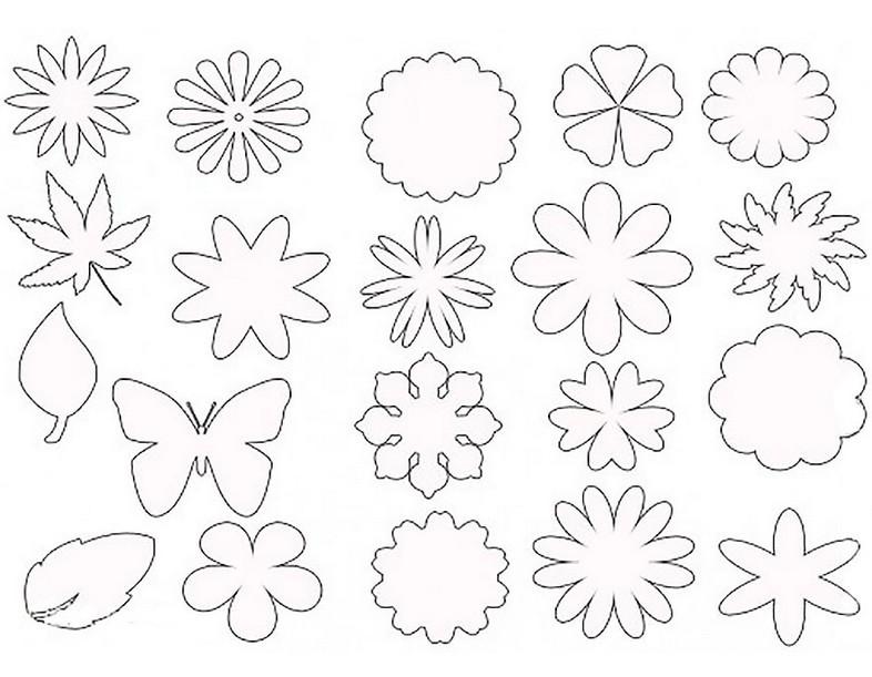 шаблоны картинки цветы