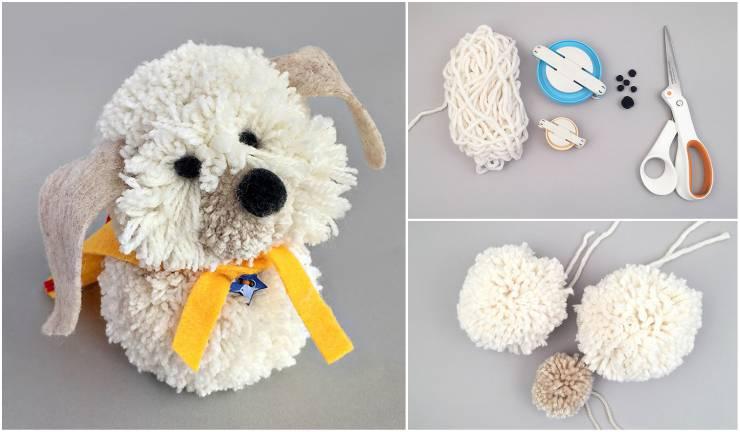 dog5-11 Класс Собачка на елку крючком в рукодельной энциклопедии Pro100hobbi