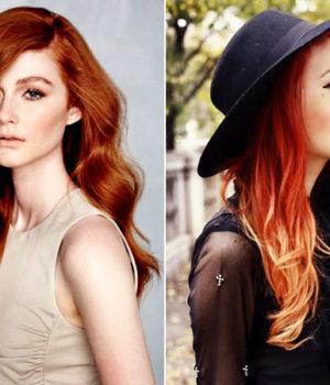 Модный рыжий цвет волос 2017-2018