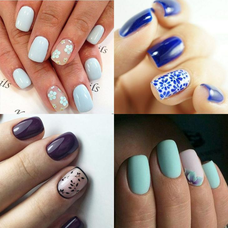 Короткие ногти квадратной формы самые практичные и удобные, некоторые дизайны именно на небольшой длине смотрятся наиболее гармонично.