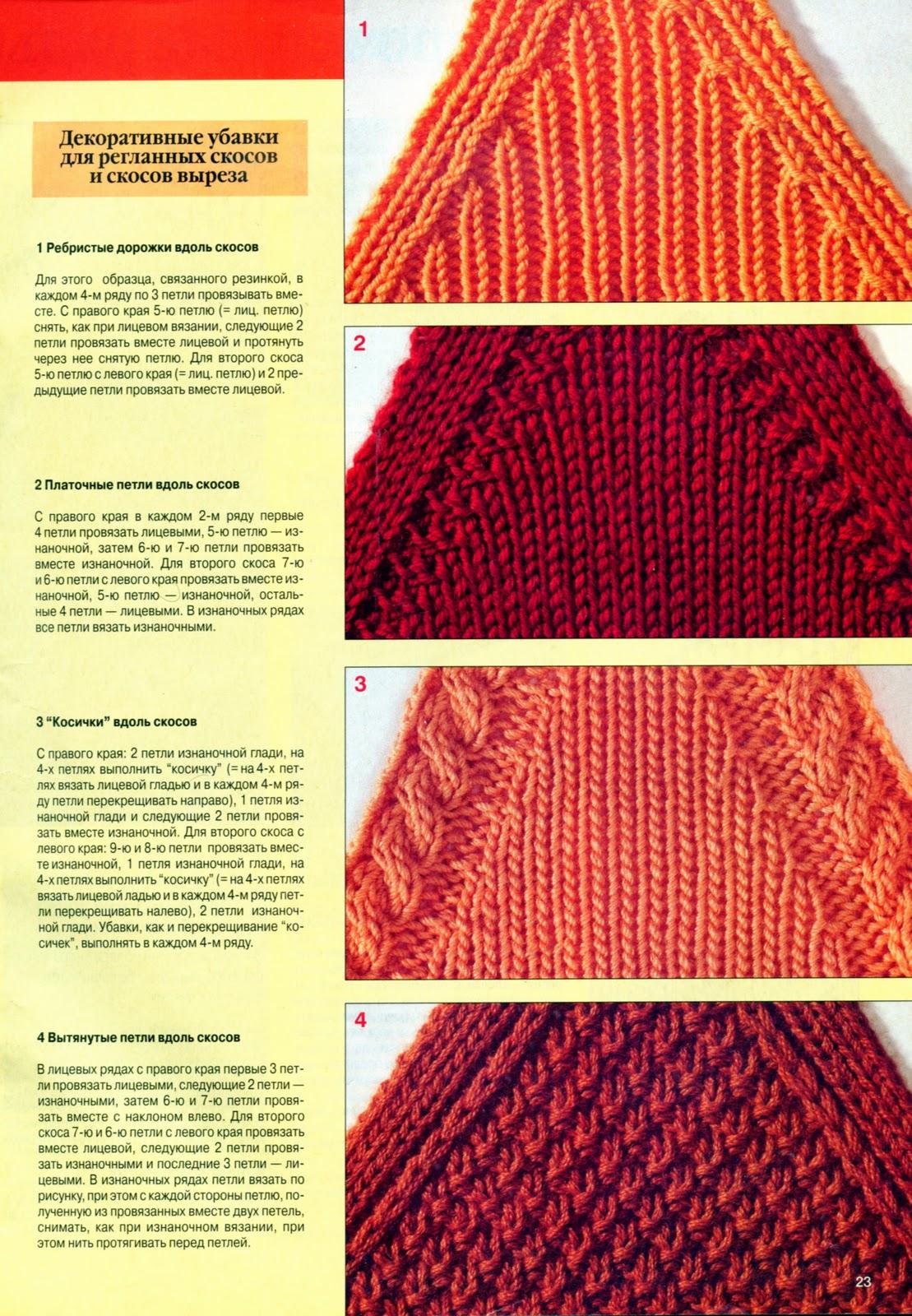 Вязание спицами для женщин модели 2018: убавки для рукава