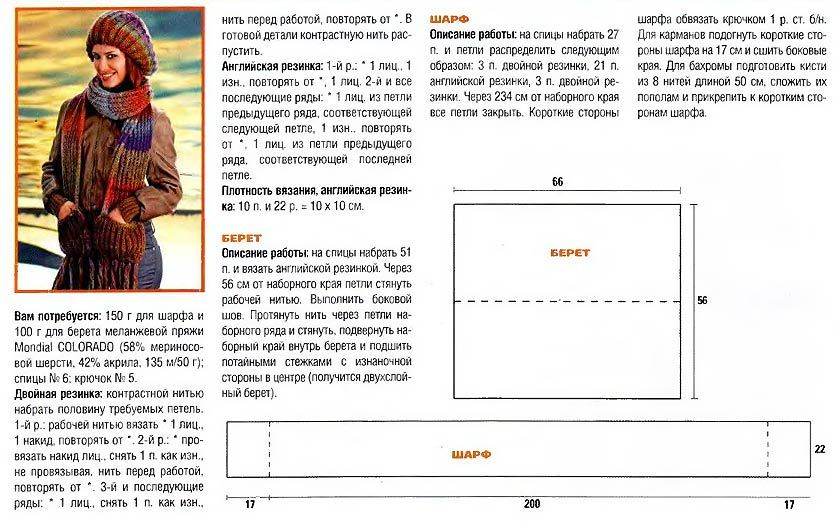 Как связать спицами шапку английской резинкой: схема и фото