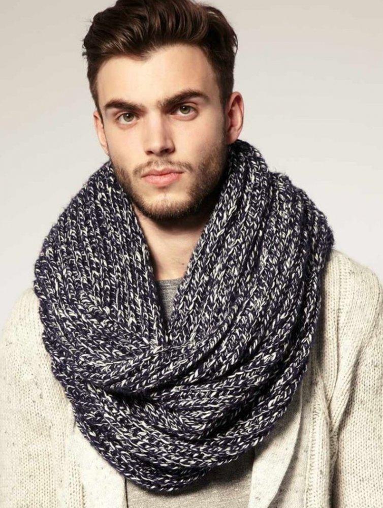 Мужской шарф крючком: фото