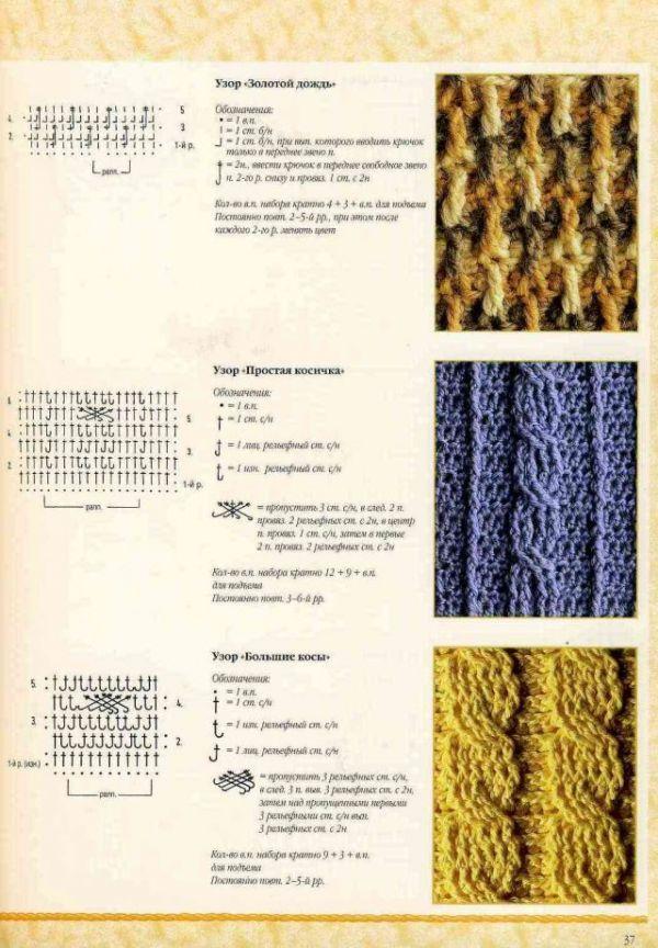 Мужской шарф крючком: схема 4