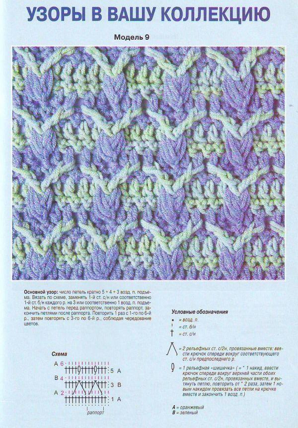 Мужской шарф крючком: схема 3