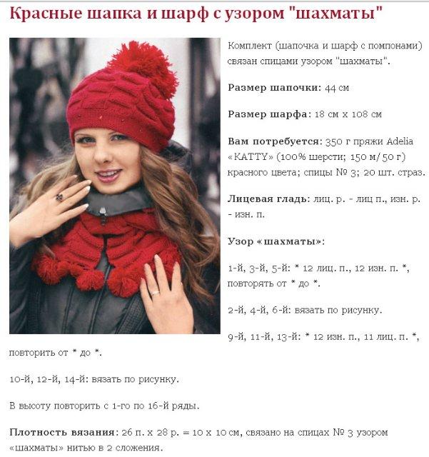 Как связать шапку с помпоном: схема 5