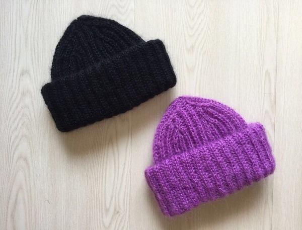 Вязание шапки спицами с отворотом: такори