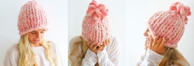Как связать шапку крупной вязки спицами: мк