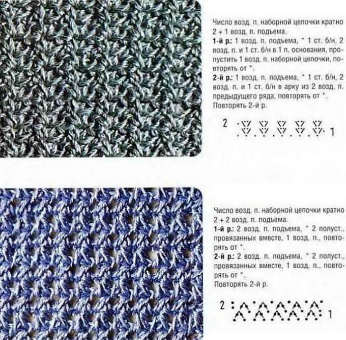 Мужской шарф крючком: схема 1
